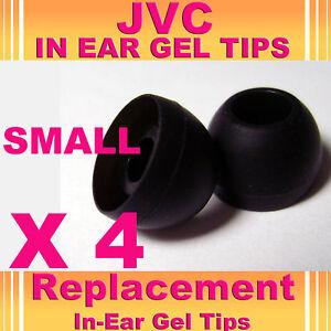 4 X Jvc en Ear Bud Cabeza teléfonos Gel Punta Covers Small  </span>