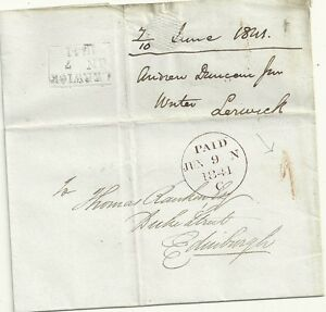 1841-FAIR-HANDSTRUCK-1-UPP-LERWICK-WRAPPER-TO-EDINBURGH-UNIFORM-PENNY-POST
