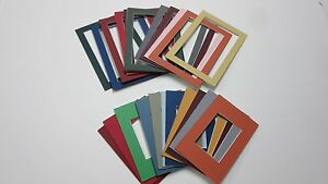 Details about Picture Frame Mats set of 20 mat two sizes and assorted  colors CUSTOM ORDER