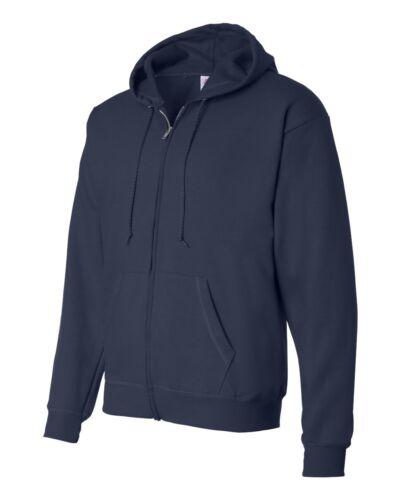 P180 Hanes Adult EcoSmart 50//50 Full-Zip Hood