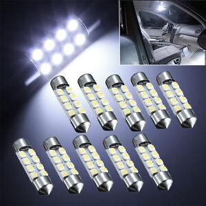 10x-36mm-C5W-8-SMD-LED-3528-1210-Blanc-Voiture-Feston-Ampoule-Lampe-Plafonnier