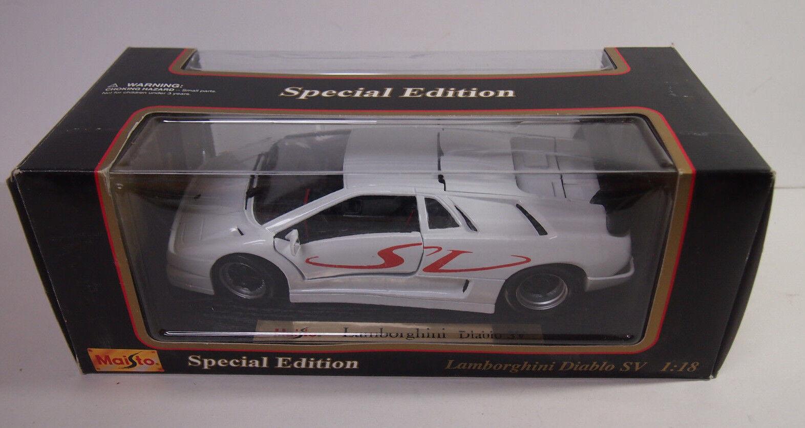 1 18 Scale Lamborghini Diablo Diecast Model - 1997 Exotic SuperCar Maisto 31844