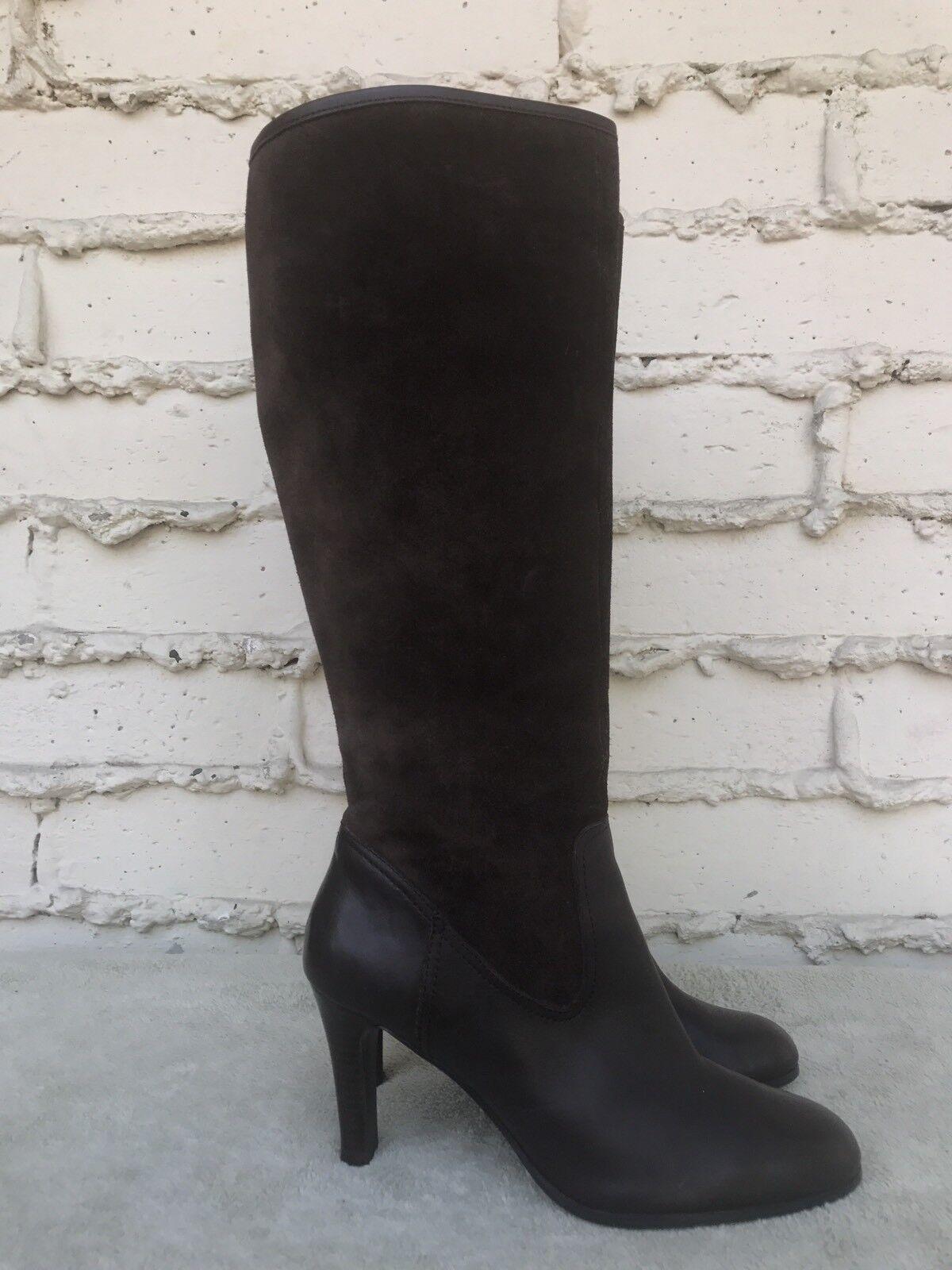 Lauren Ralph Lauren De Mujer De Moda De Gamuza Gamuza Gamuza marrón de cuero y la rodilla botas altas 10M EE. UU.  suministro de productos de calidad