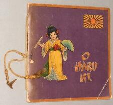 O HARU KI A Japanese Prodigy - Blanche Handler (c.1900) Vintage Children's book