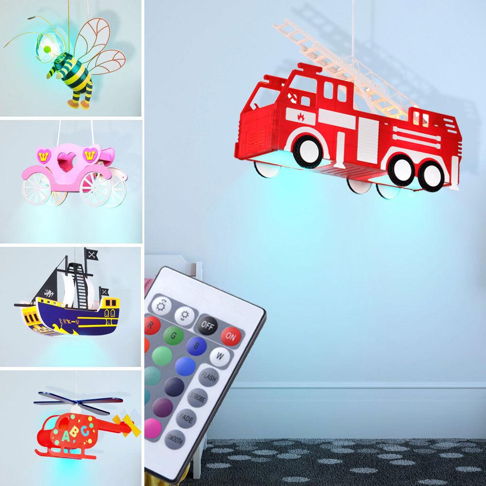 Lampe plafonnier à LED enfants navire transport de voiture abeille RGB dimmable
