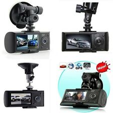"2.7"" Dual Lens Car Vehicle 1080P HD Dash Camera DVR Cam Accident GPS Recorder"