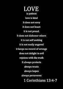 Love Is Patient Love Is Kind 1 Corinthians 13 Quote Canvas Or Print