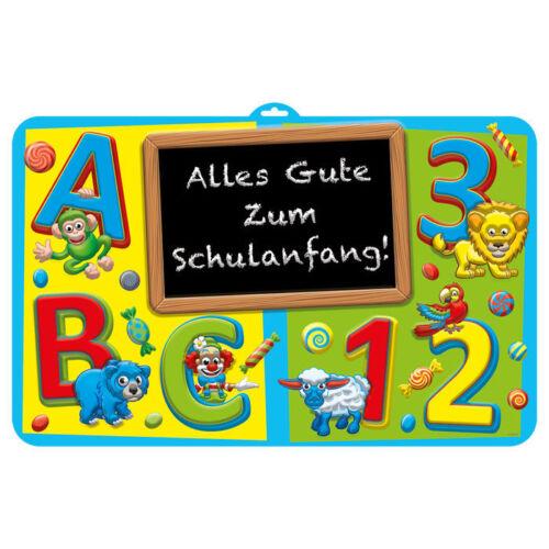 73x58 cm Einschulung Party Dekoration Wand-Deko Bunter Schulanfang