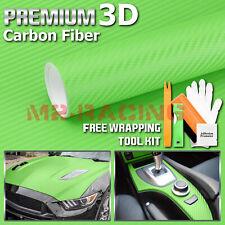 36x60 3d Carbon Fiber Textured Green Matte Car Vinyl Wrap Sticker Decal Sheet