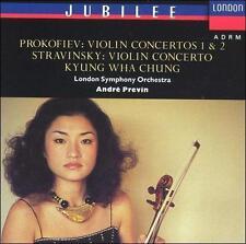 KYUNG-WHA CHUNG violin - PROKOFIEV & STRAVINSKY Concertos CD 1990 SOLID SILVER