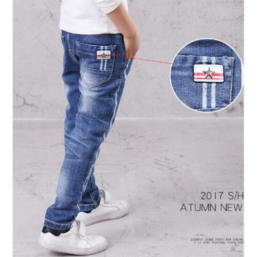 Kinder Boy Jeans Jungen Blau Hosen Frühling Herbst Freizeit 4-13 Jahre 4958 HC