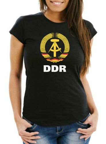 Damen T-Shirt WM DDR Nostalgie Slim Fit Moonworks®