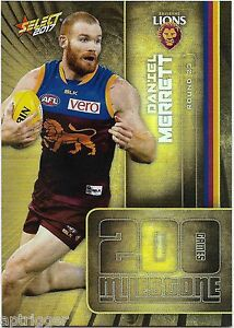 2018 Afl Select Footy Stars Milestone Card Of Daniel Rich Australian Football Cards