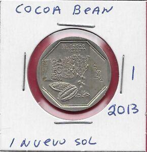 """PERU 1 Nuevo Sol 2013 /""""Natural resources of Peru/"""" CACAO UNC"""