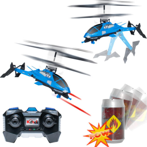 3.5ch Shooting Fighting Infrared battle Tail Folding RC Helicopter Toy w// Gyro