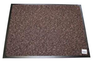 Türmatte Fußabtreter braun 90 x 60 cm Fußmatte Schmutzfangmatte