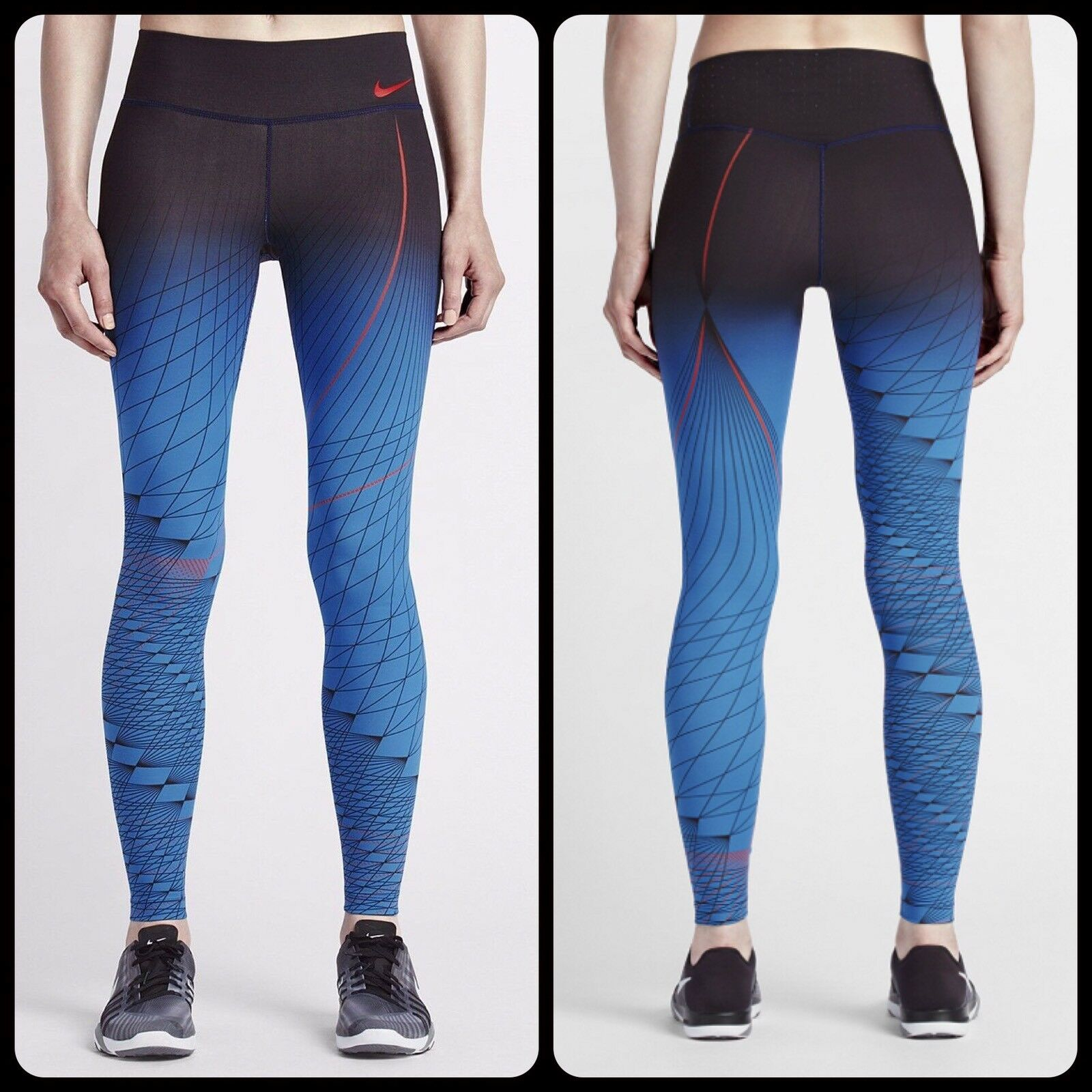 NIKE POWER LEGENDARY TIGHT FIT PRINTED TRAINING TIGHTS 814287 WOMENS S SMALL