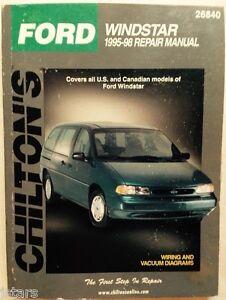 ford windstar van repair manual