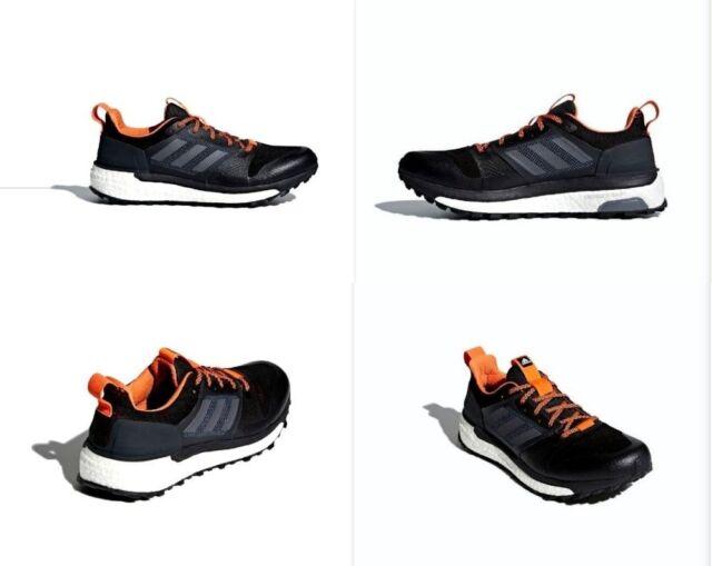 f82477988 Adidas Supernova Trail Running Shoes Carbon   Orange Mens Size 9.5 NIB  CG4025