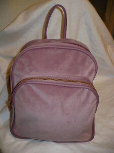 b6a4997644a3 Image is loading No-Boundaries-Velvet-Mini-Backpack-Purses-Blush-Color-