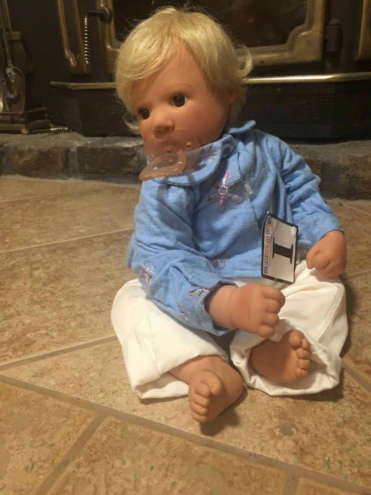 Jahr Lee Middleton 1996 vinyl LE blonde Baby doll pacifier hand signed