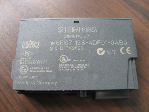 Nice Siemens 6ES7 138-4DF01-0AB0 Simatic S7 Interface Module