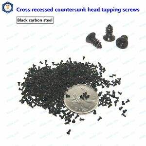 M1-4-M1-7-Black-Oxide-Phillips-Cross-Countersunk-Flat-Head-Self-Tapping-Screws