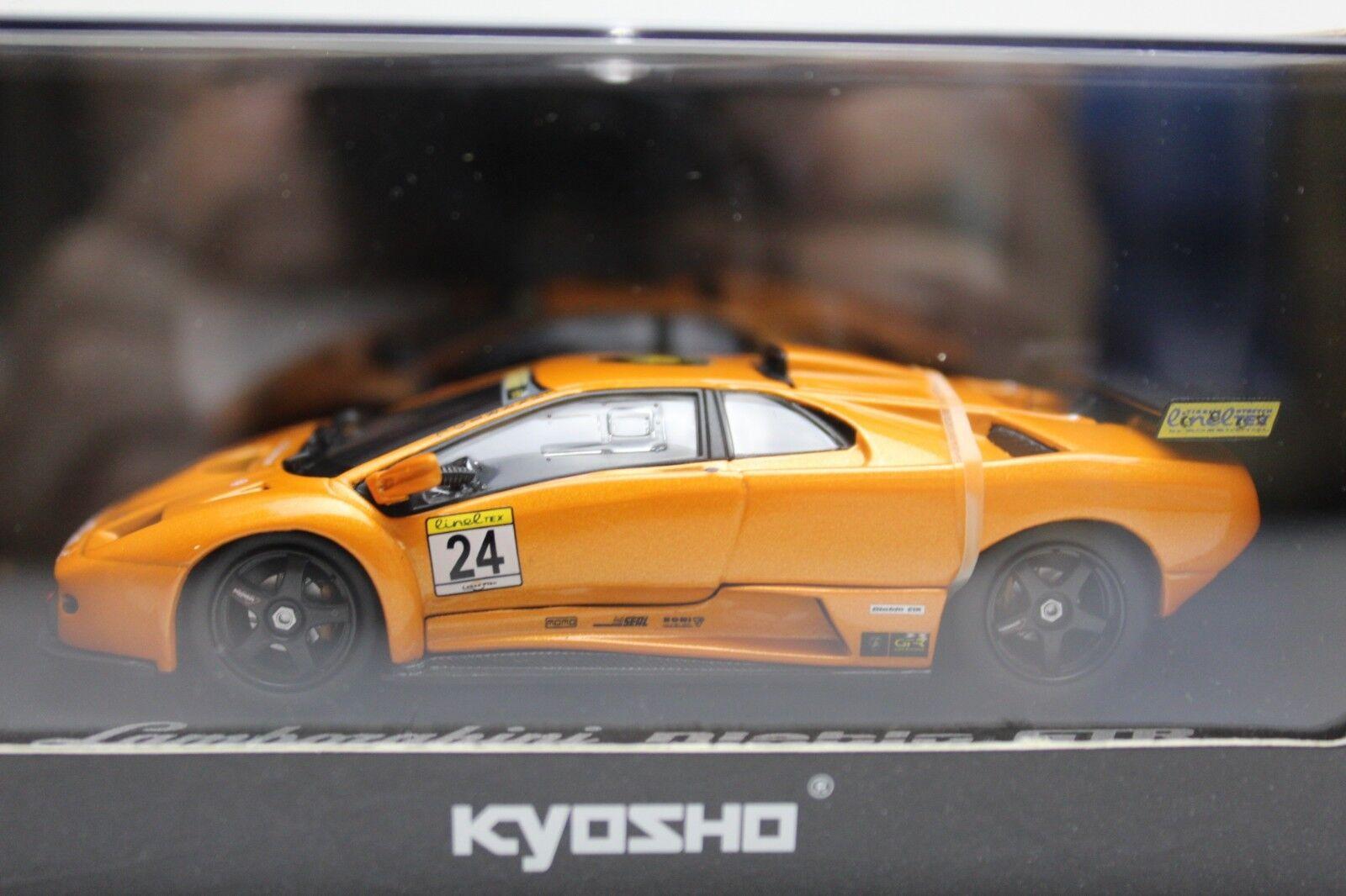 Kyosho Lamborghini Diablo GT-R no 24 orange 1 43 Model Car New in Box 03215E