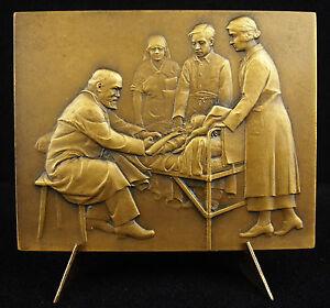 Medal-Doctor-a-Florand-Scene-Hospital-Sc-Prud-039-Men-039-s-c1920-Medicine-Medal