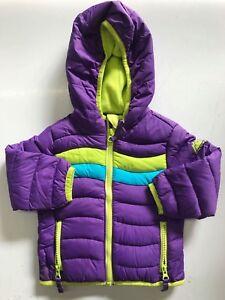 Snozu-Girl-039-s-Fleece-Lined-Ultra-Clean-Down-Puffer-Jacket-PURPLE-18M