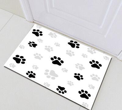 Dog Paw Prints Floor Memory Foam