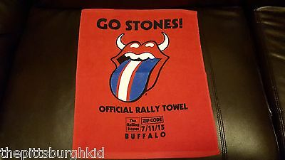 RARE  ROLLING STONES RALLEY TOWEL FROM BUFFALO 7/11/15 NEW ZIP CODE TOUR