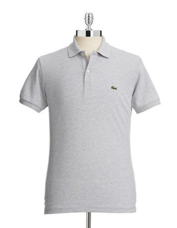 Lacoste Slim Fit Polo Shirt PH5001 51 CCA Grey Men SZ S - 2XL