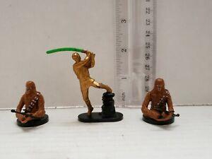 Star-Wars-LFL-Mini-Figurines-Lot-de-3-jouet-cake-topper-Chewbacca-Luke-Skywalker