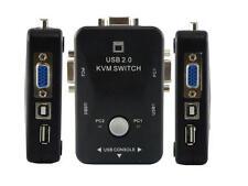KVM SWITCH 2 PC PER TASTIERA MOUSE MONITOR PORTE USB MONITOR VGA STAMPANTE BOX