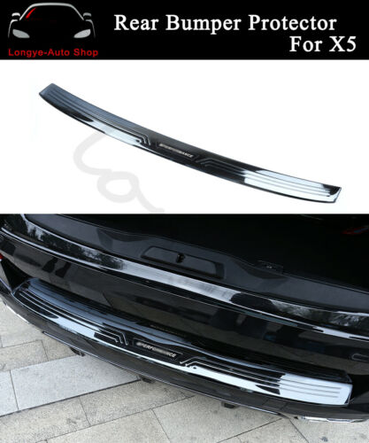 Rear Bumper Plate Mouldings Fits For BMW X5 2019 2020 Bar Sill Trim Scuff