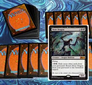 mtg-BLACK-SURVEIL-DECK-Magic-the-Gathering-rares-60-cards-bone-dragon-tetzimoc