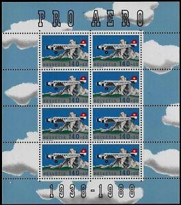 Svizzera-1988-PRO-AERO-Minifoglio-nuovo-MNH-Unificato-A49
