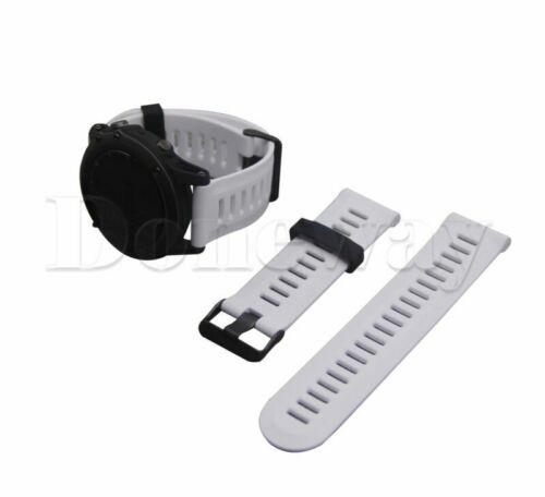 Bracelet en silicone Bande de montre pour Garmin Fenix 3//Fenix 3 HR Sapphire