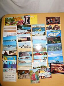 VINTAGE-56-TRAVEL-BROCHURES-amp-POSTCARD-LOT