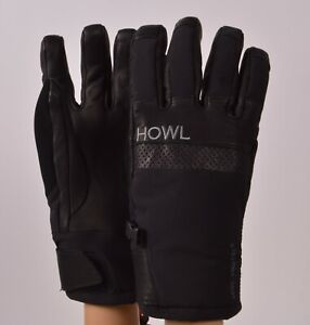 2019-NWT-HOWL-TIGER-Glove-M-Black-Snowboard-Glove-Heavy-Weight