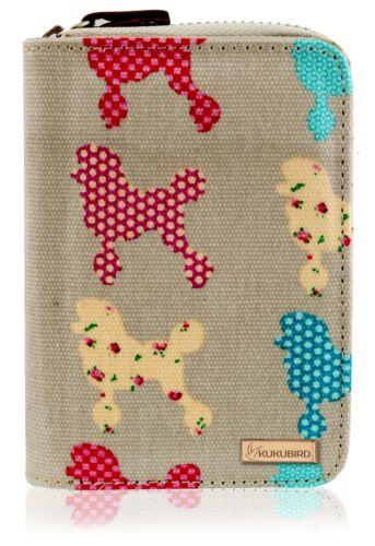 New Girls Ladies Medium Chihuahua Poodle Pattern Purse Wallet