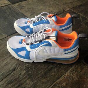 Compañero silencio Hamburguesa  Nike Max 270 Futura Para hombre Zapatos Air Azul Blanco Naranja ...