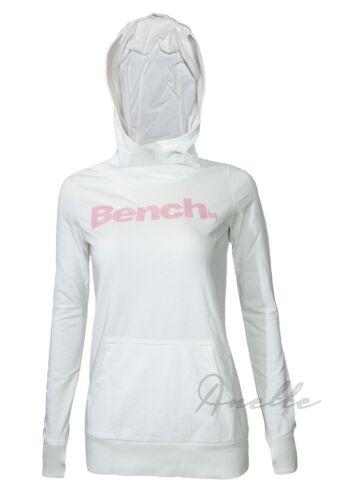 BENCH New Women/'s Long Line Hoodie Shiny Logo Special Thumb Hole Hoody BNWT