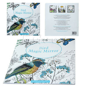 image is loading new secret garden bird magic mirror children adults - Graffiti Coloring Book