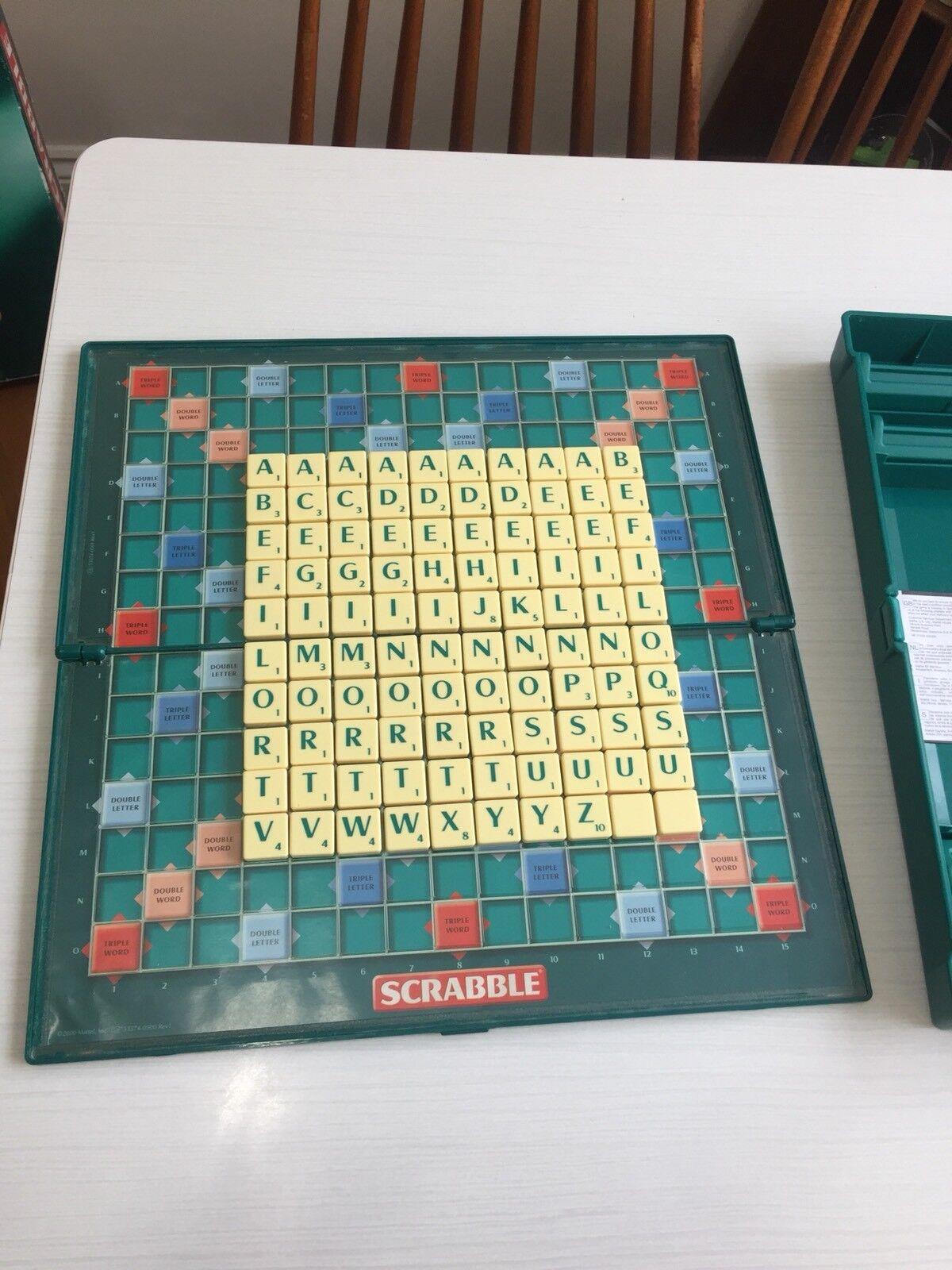 Scrabble Plus Full Size Board Travel Compact Storage Case RARE redating
