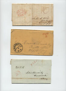 3-1830s-50s-NY-state-stmapless-Utica-Brooklyn-Hudson-y5301
