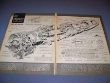 VINTAGE..WHITTLE TURBOJET ENGINE..CUTAWAY/DETAILS..RARE! (811)