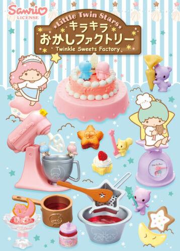 Re-ment Sanrio Little Twin Stars Twinkle Bonbons Factory Set complet de 8 pieces