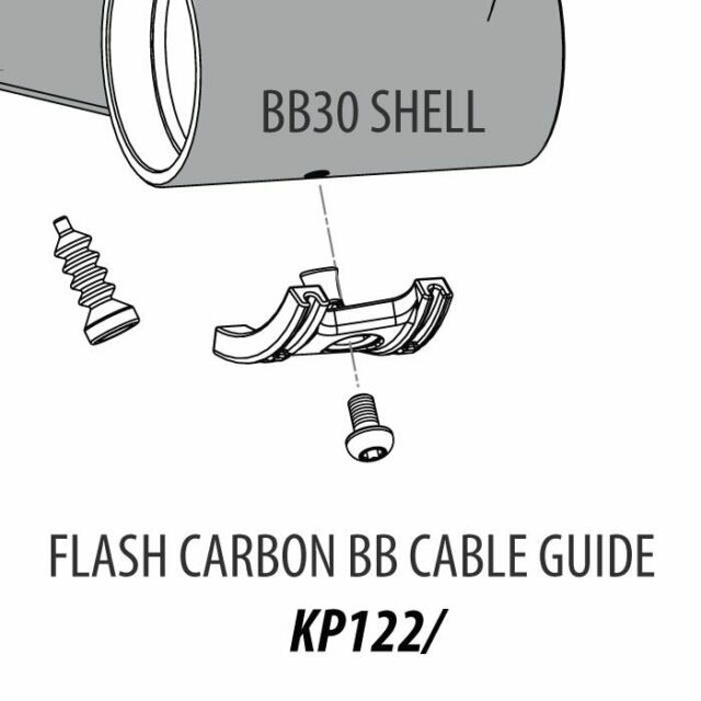 Cannondale Bottom Bracket Cable Guide Flash Carbon Kp122 for sale online